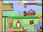 Mario hammering Donkey Kong
